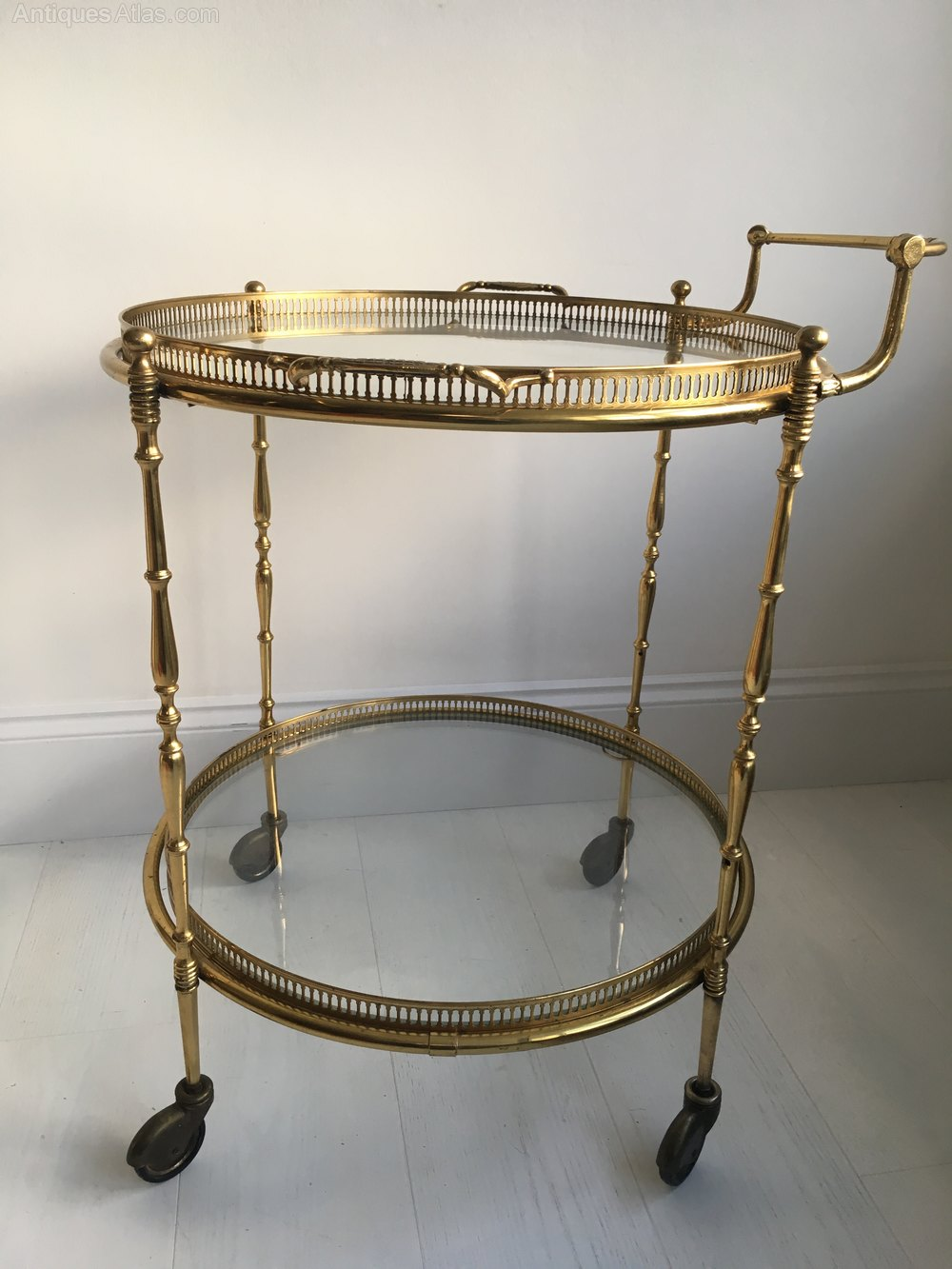 Antiques Atlas Vintage French Circular Drinks Trolley Bar Cart