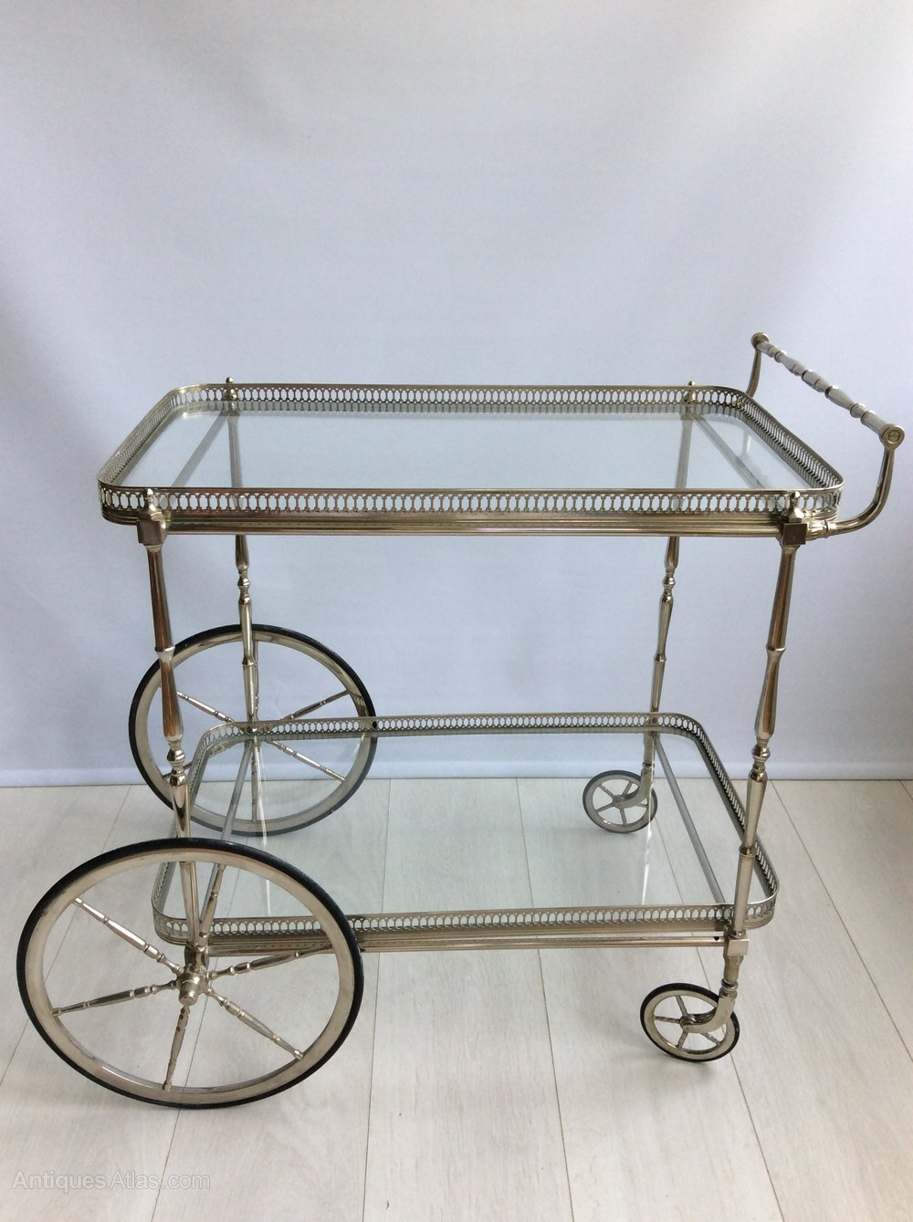 Antiques Atlas Vintage French Silver Drinks Trolley Bar Cart