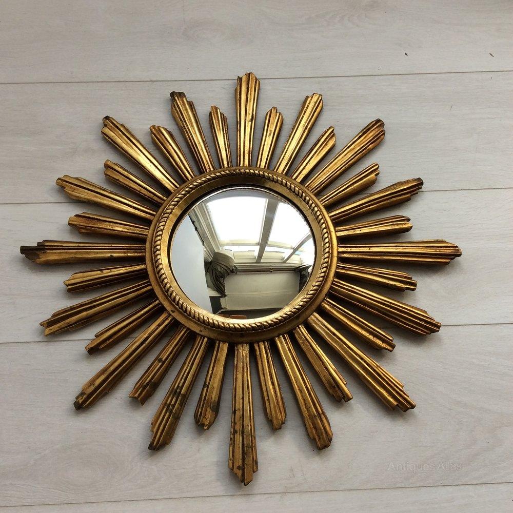 Vintage French Sunburst Mirror Antique Mirrors
