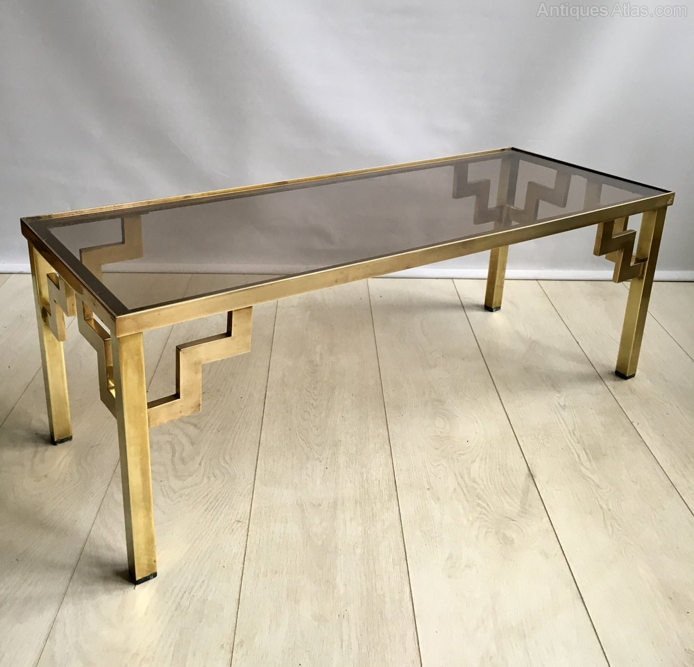 Vintage Glass Coffee Tables: Vintage Brass And Glass Coffee Table