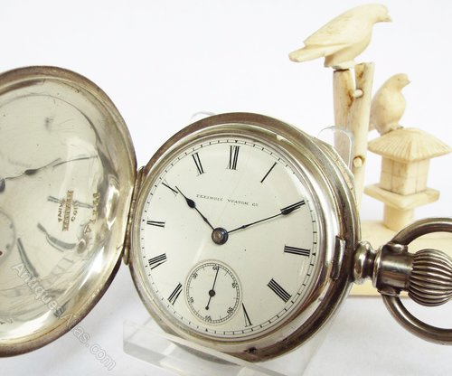 Vintage Worcester Pocket Watch With Gold Illinois Watch Case Co Antique Elgin...