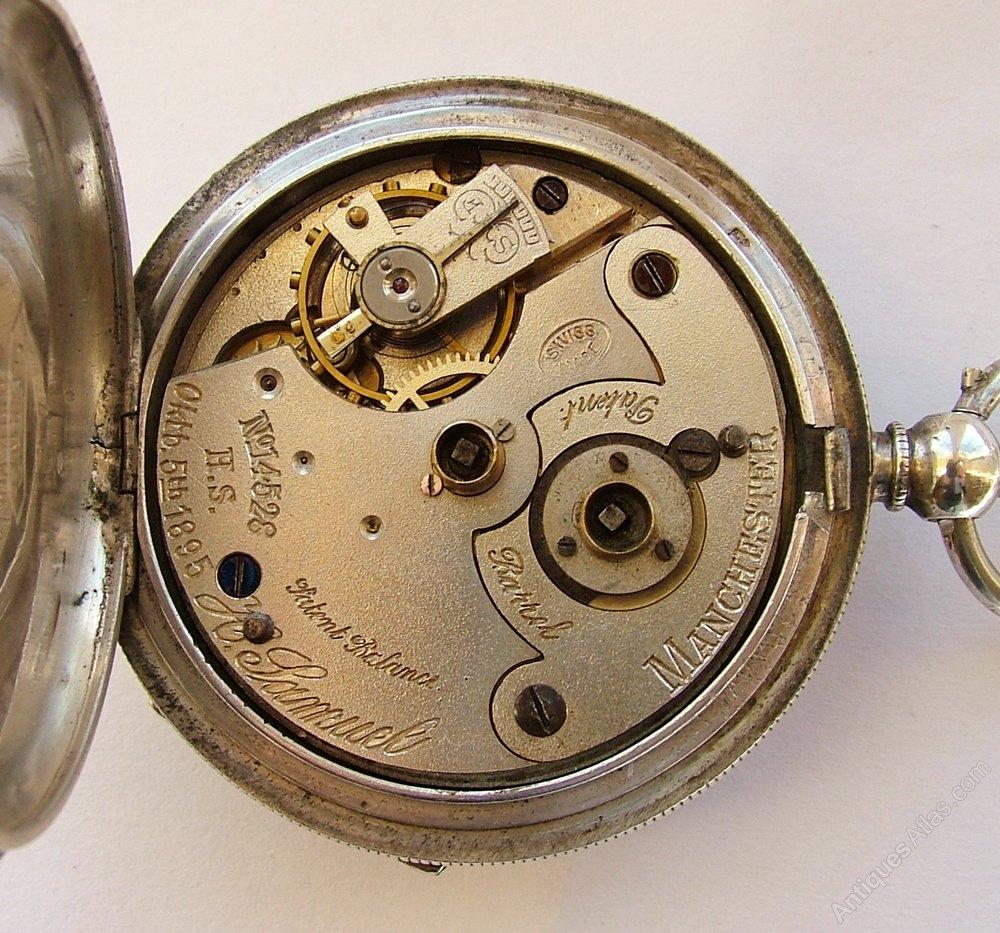 antiques atlas 1920s silver h samuel pocket watch chain. Black Bedroom Furniture Sets. Home Design Ideas