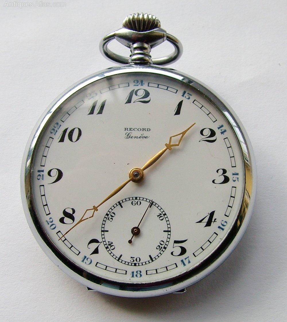 Antiques Atlas A 1930s Record Genève Pocket Watch