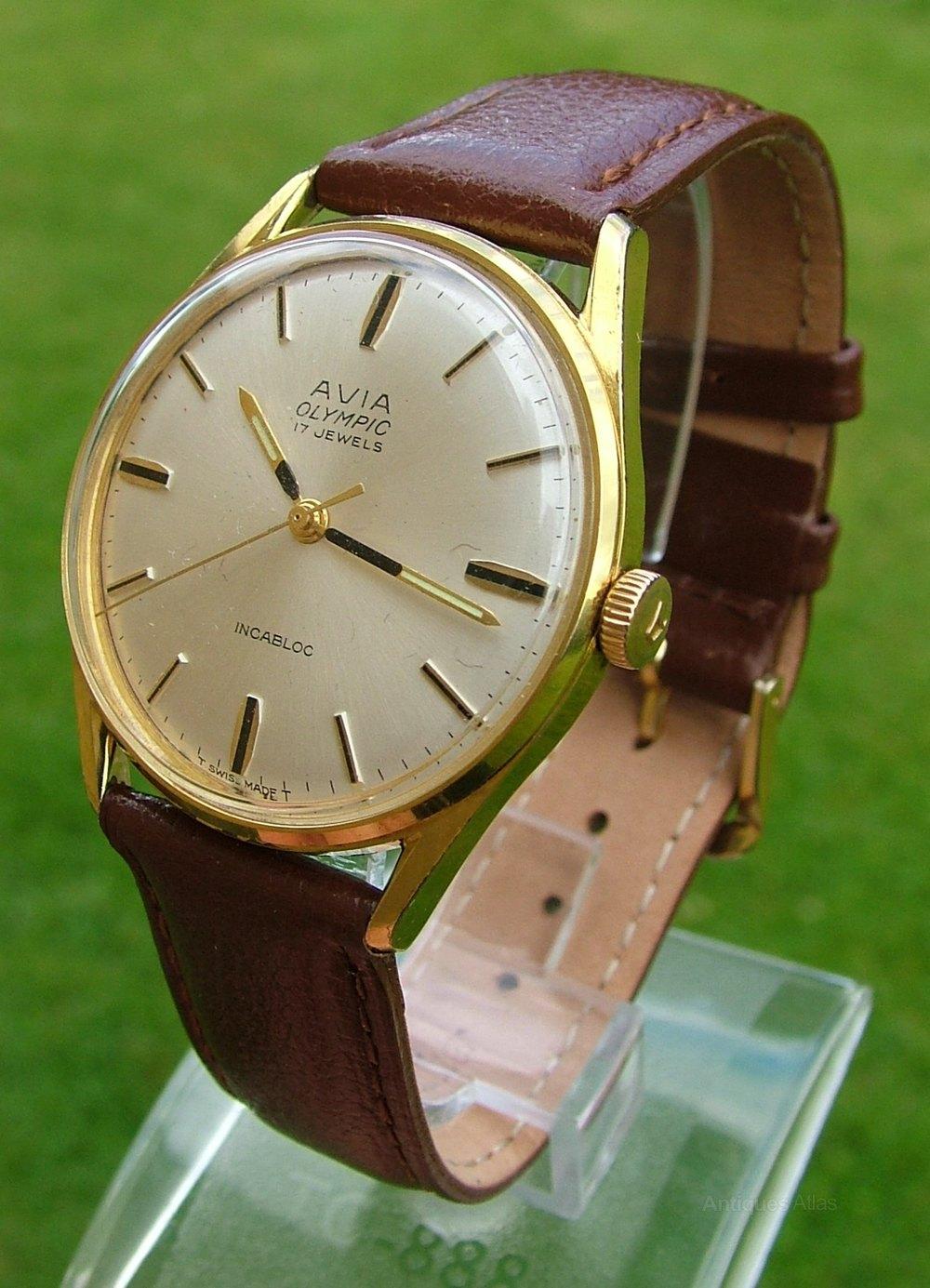 Antiques Atlas A Gents 1960s Avia Olympic Wrist Watch