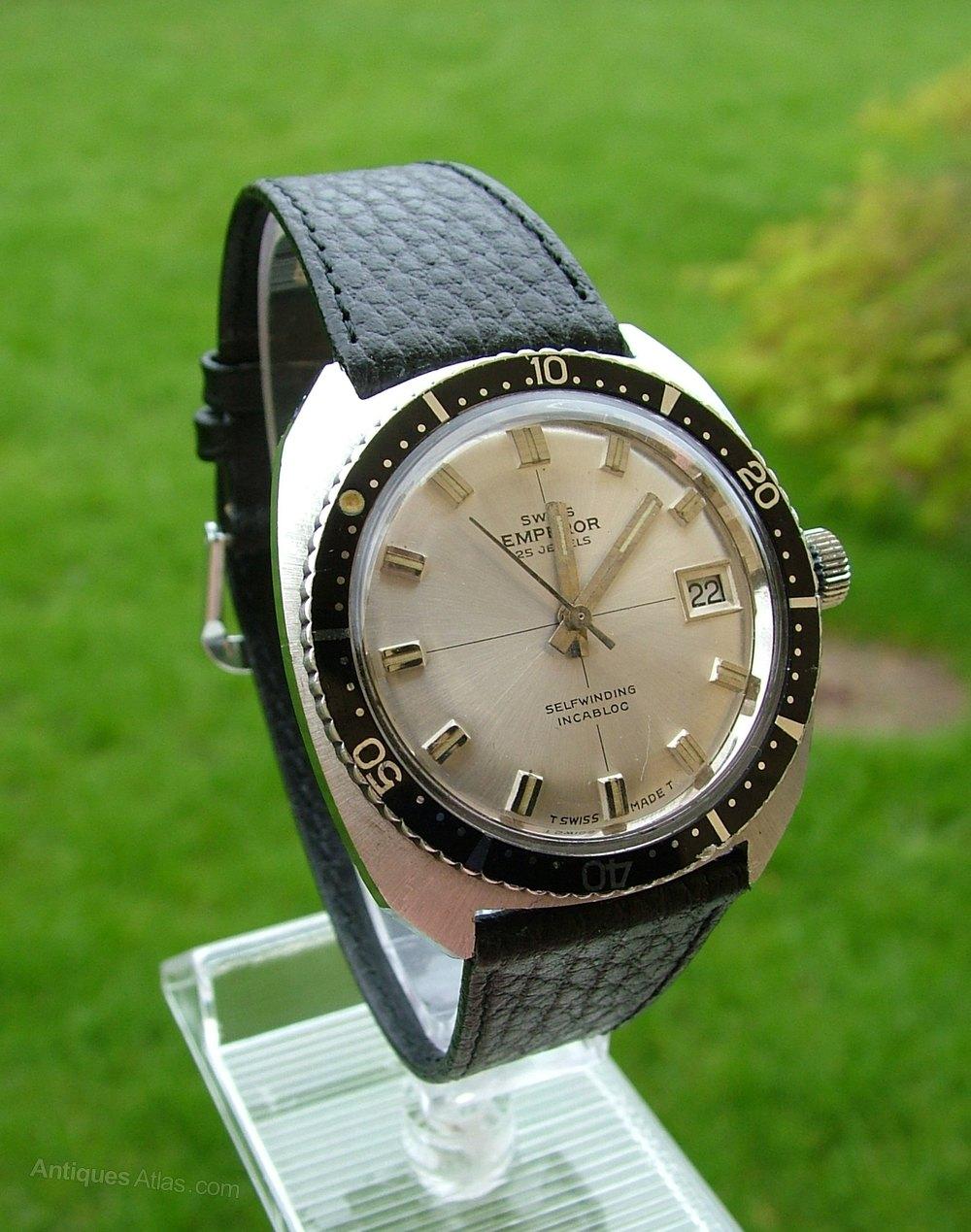 a4b22729a9d Antiques Atlas - A Gents 1960s Swiss Emperor Automatic Wrist Watch