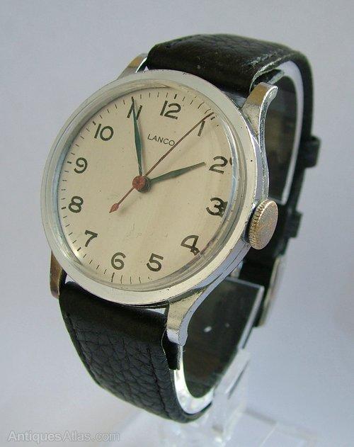 0eacbe7292f Antiques Atlas - A Gents WW2 Era Military Style Lanco Wrist Watch