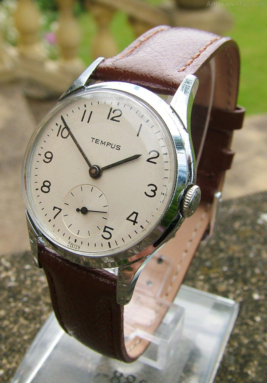 Antiques Atlas - Gents 9ct Gold Smiths De Luxe Watch