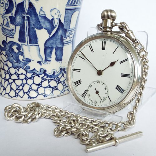 83152aa27 Antiques Atlas - An English Antique Silver Pocket Watch, 1915