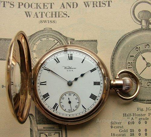 4387be81e36 Antiques Atlas - Antique Waltham Vanguard Half Hunter Pocket Watch