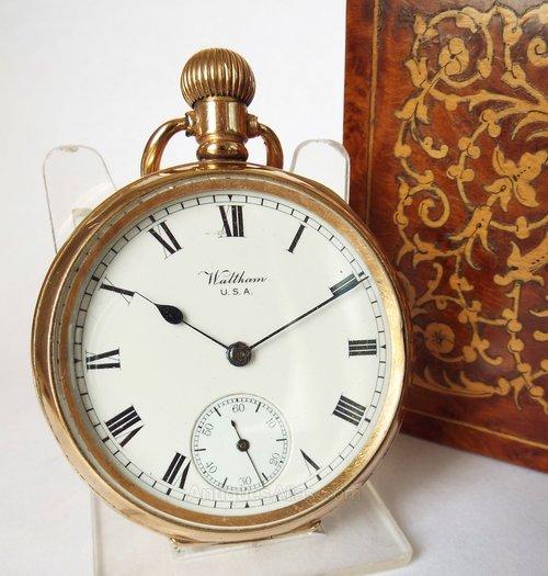 f9c70f29c Antiques Atlas - Antique Gold Filled Waltham Traveler Pocket Watch