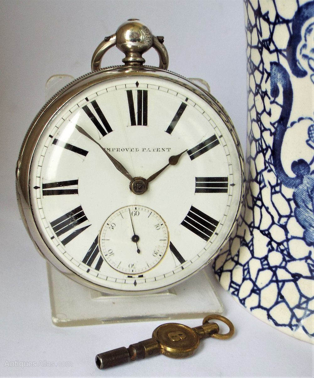 1c12388be Antiques Atlas - Antique Silver Improved Patent Fusee Pocket Watch