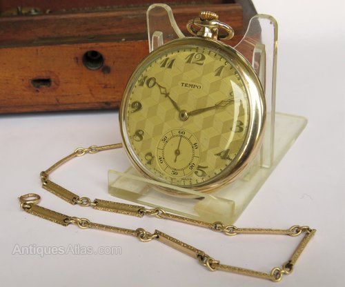 be89af20a Antiques Atlas - Art Deco Tempo Pocket Watch And Chain