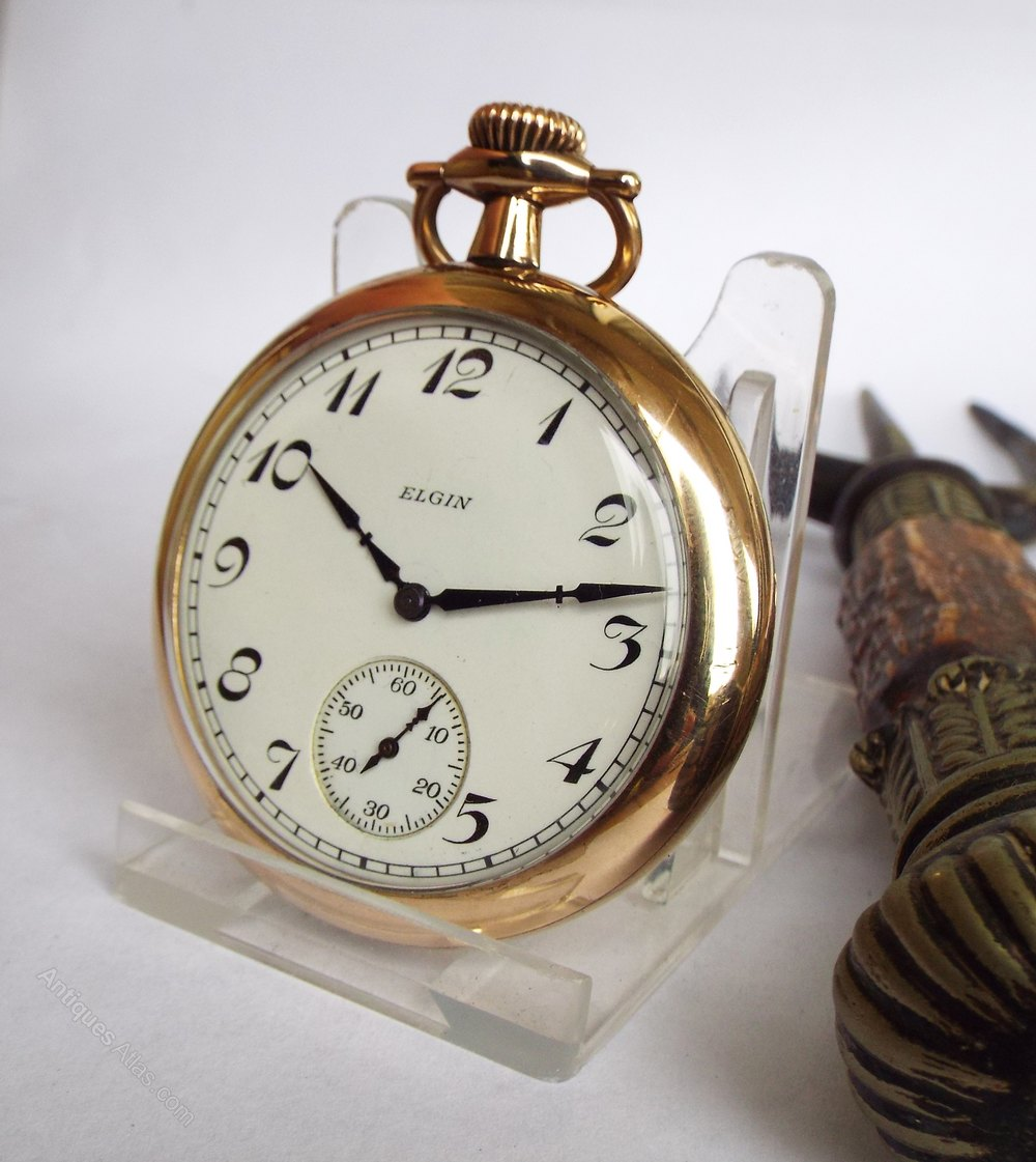 Antiques Atlas Elgin Gold Plated Pocket Watch 1927
