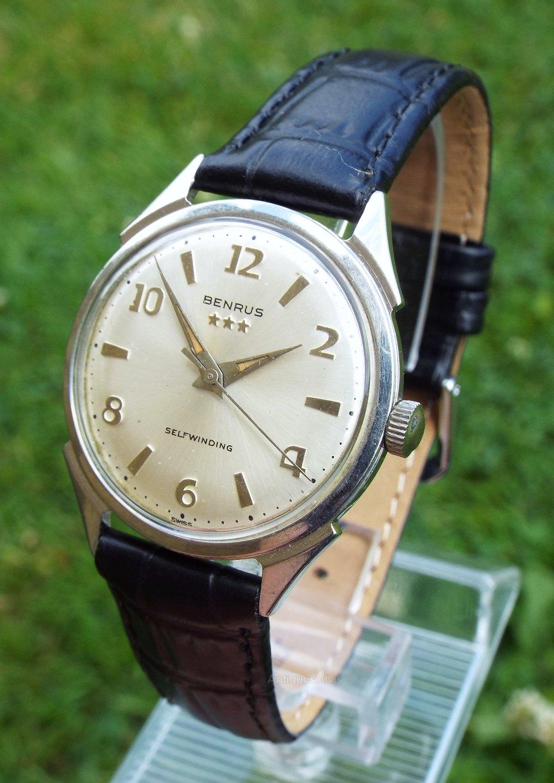 Antiques Atlas - Gents 1950s Benrus Automatic Wrist Watch