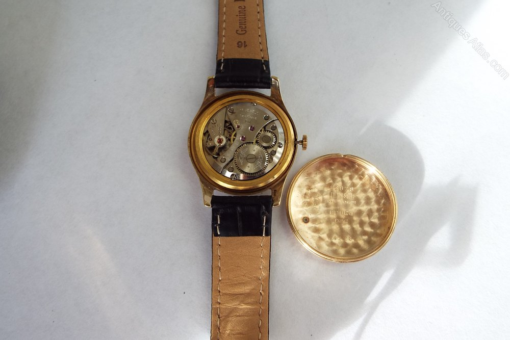 b5b970a3d3f Antiques Atlas - Gents 9ct Gold Rotary Watch 1957