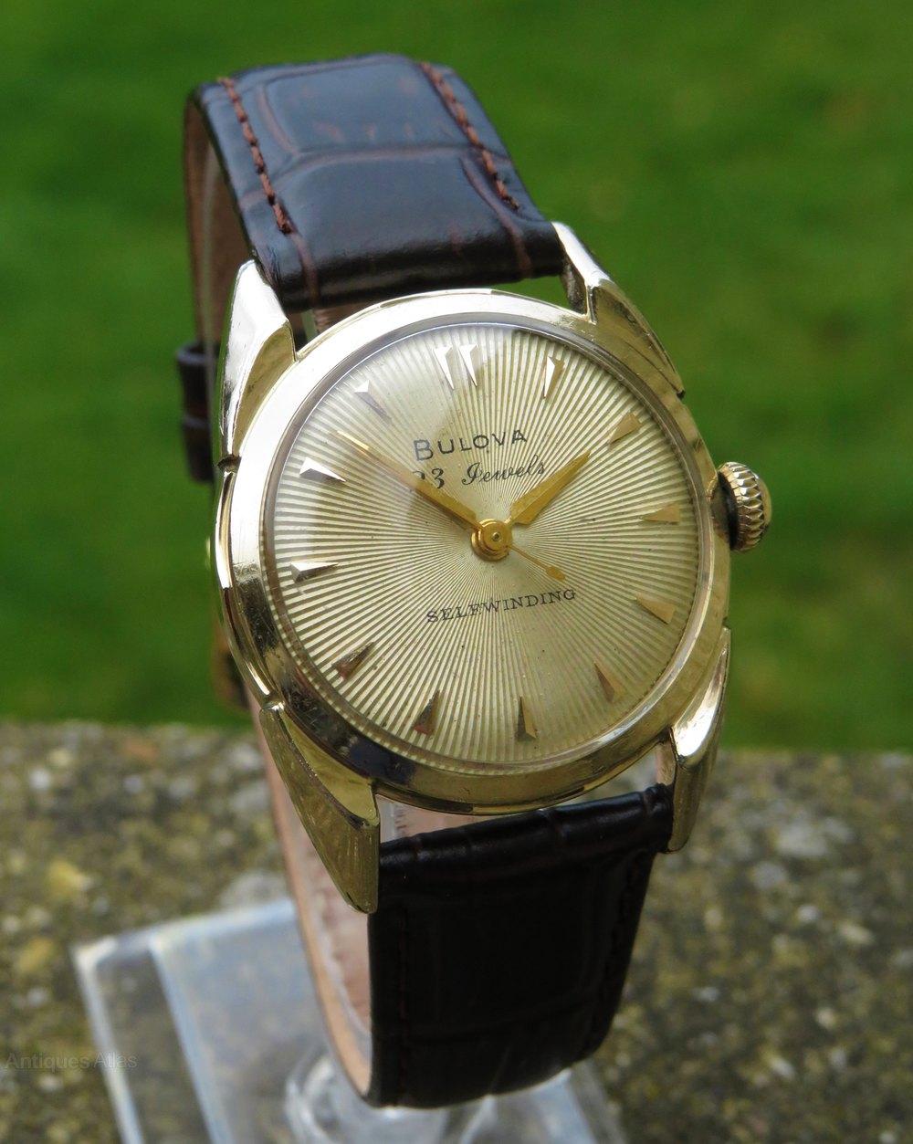 Antiques Atlas - Gents Bulova Automatic Wrist Watch, 1954