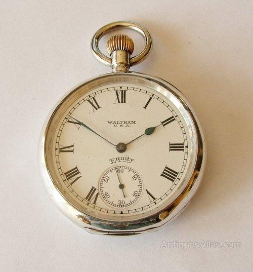 watch packet waltram Vintage mens silver
