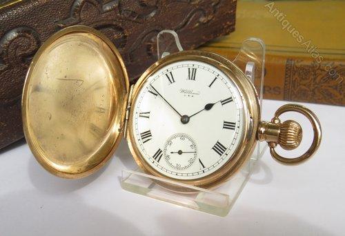 805f52574 Antiques Atlas - Waltham Full Hunter Pocket Watch, 1918