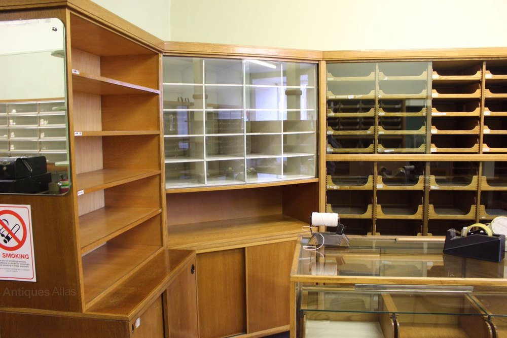 Complete Haberdashery Shop Display 18 Cabinets Antiques