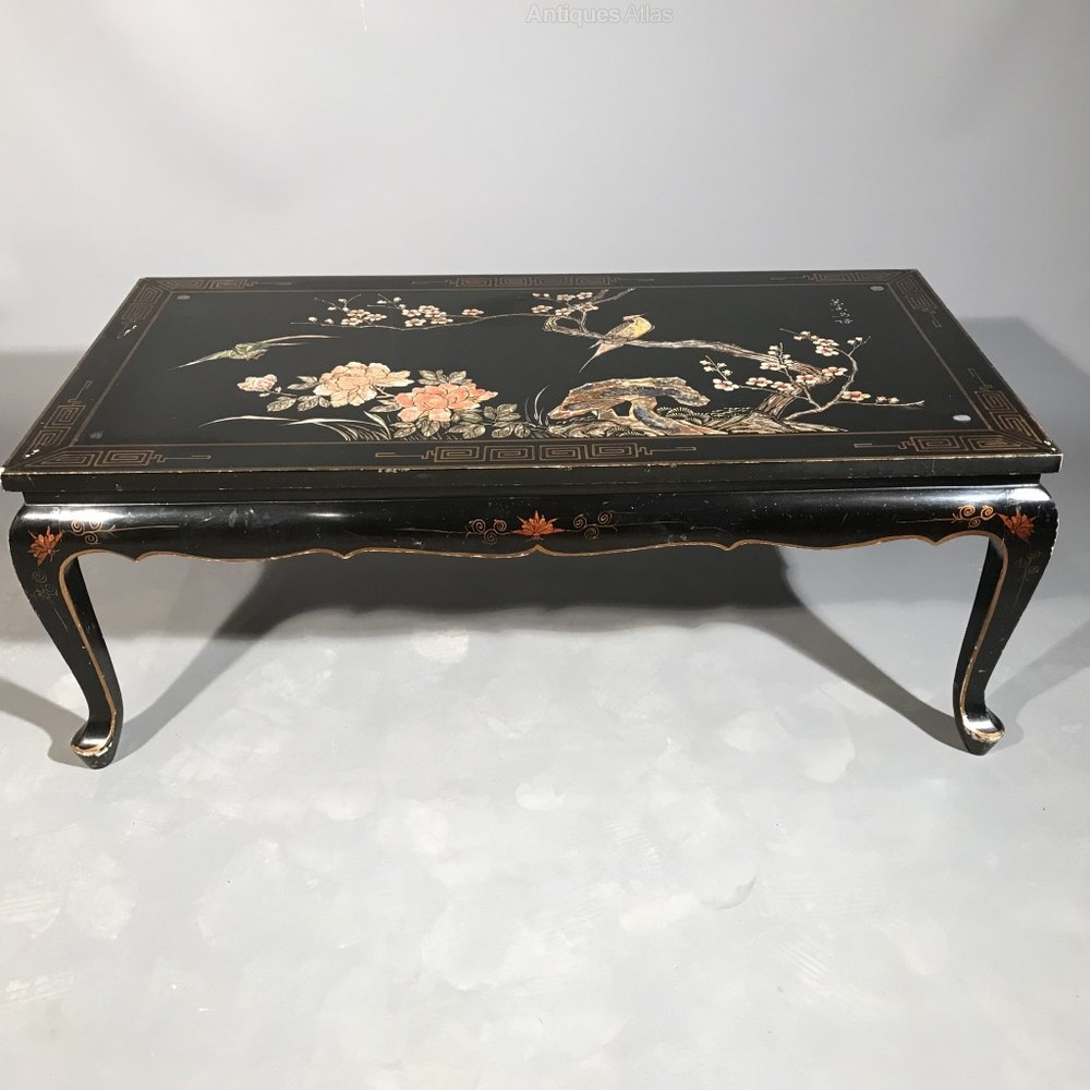 Chinoiserie Coffee Table Antique Coffee Tables Japanese Black Lacquered  Gilded %%alt5%% ...