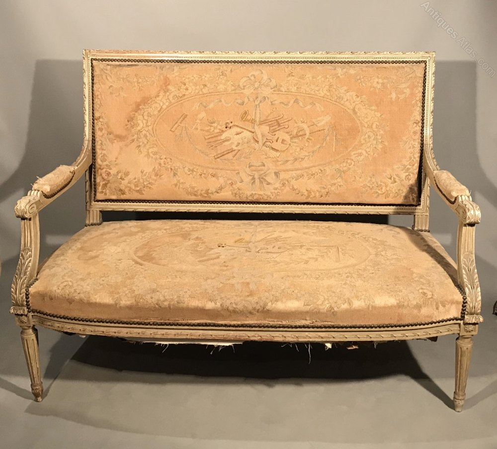 French C19th Sofa With Original Tapestry Antiques Atlas