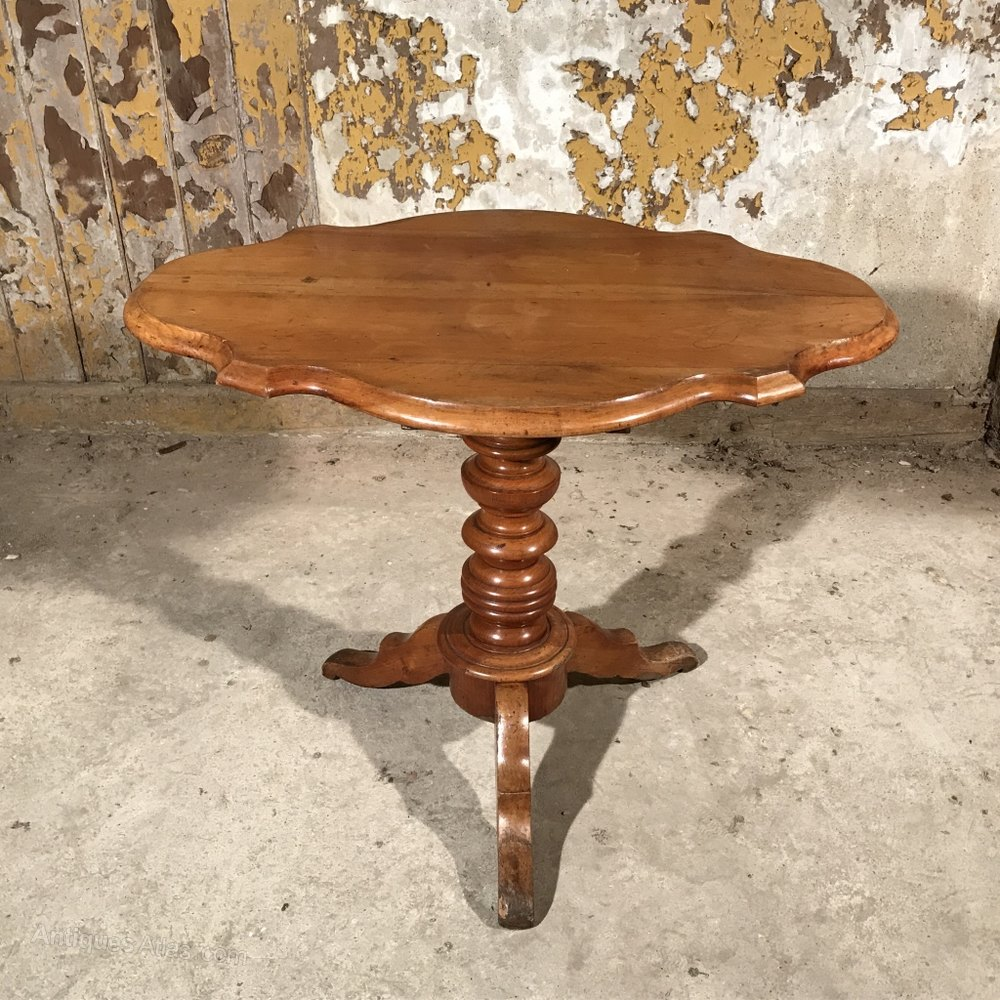 French Cherry Wood Side Table Violin Table Antiques Atlas