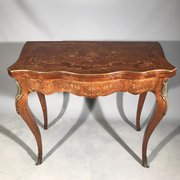 French Marquetry Console Table