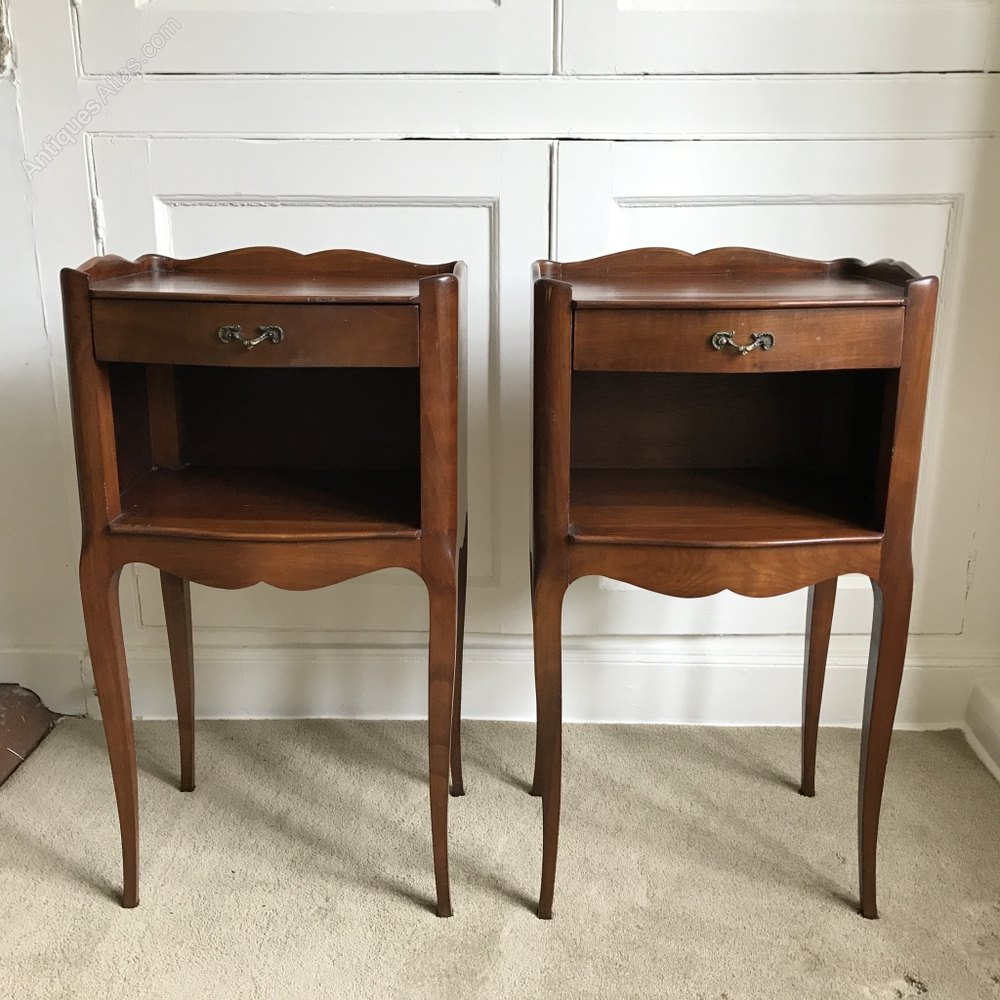 Pair Of French Cherry Wood Bedside Tables Antiques Atlas