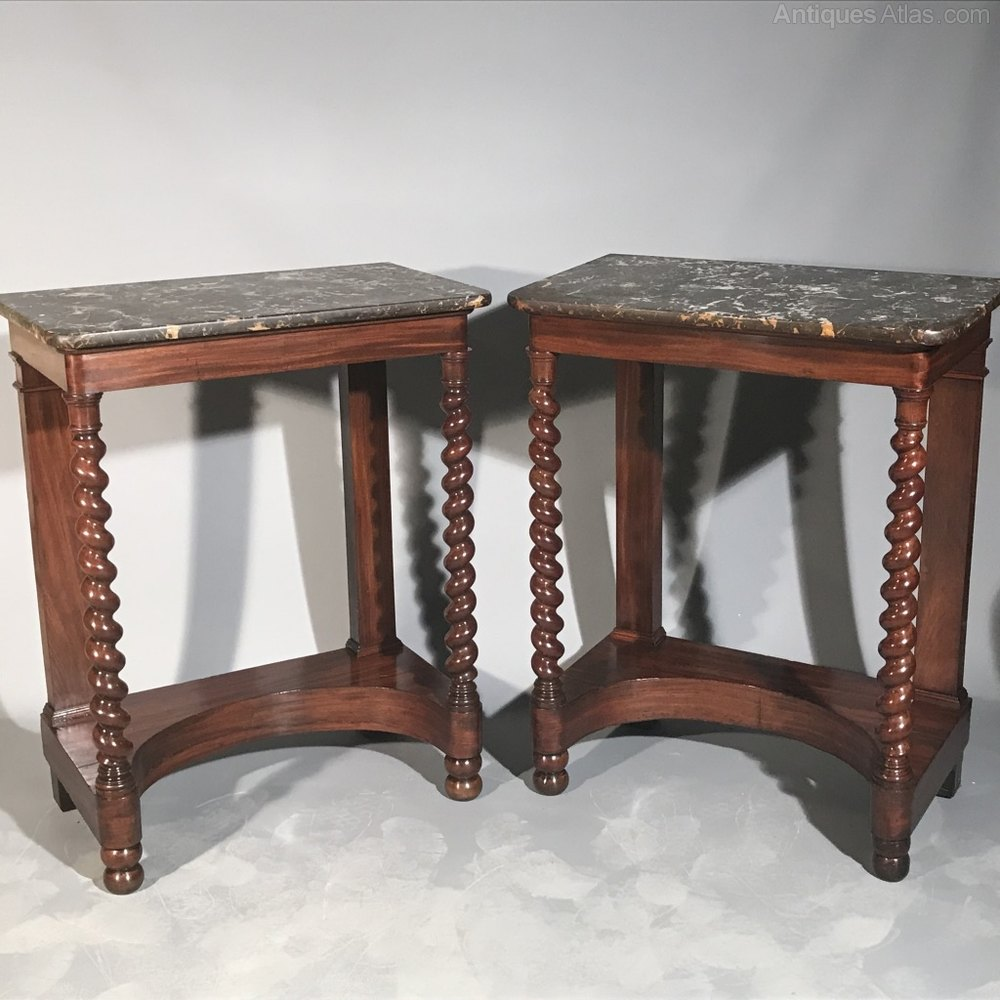 French Console Tables With Barley Twist