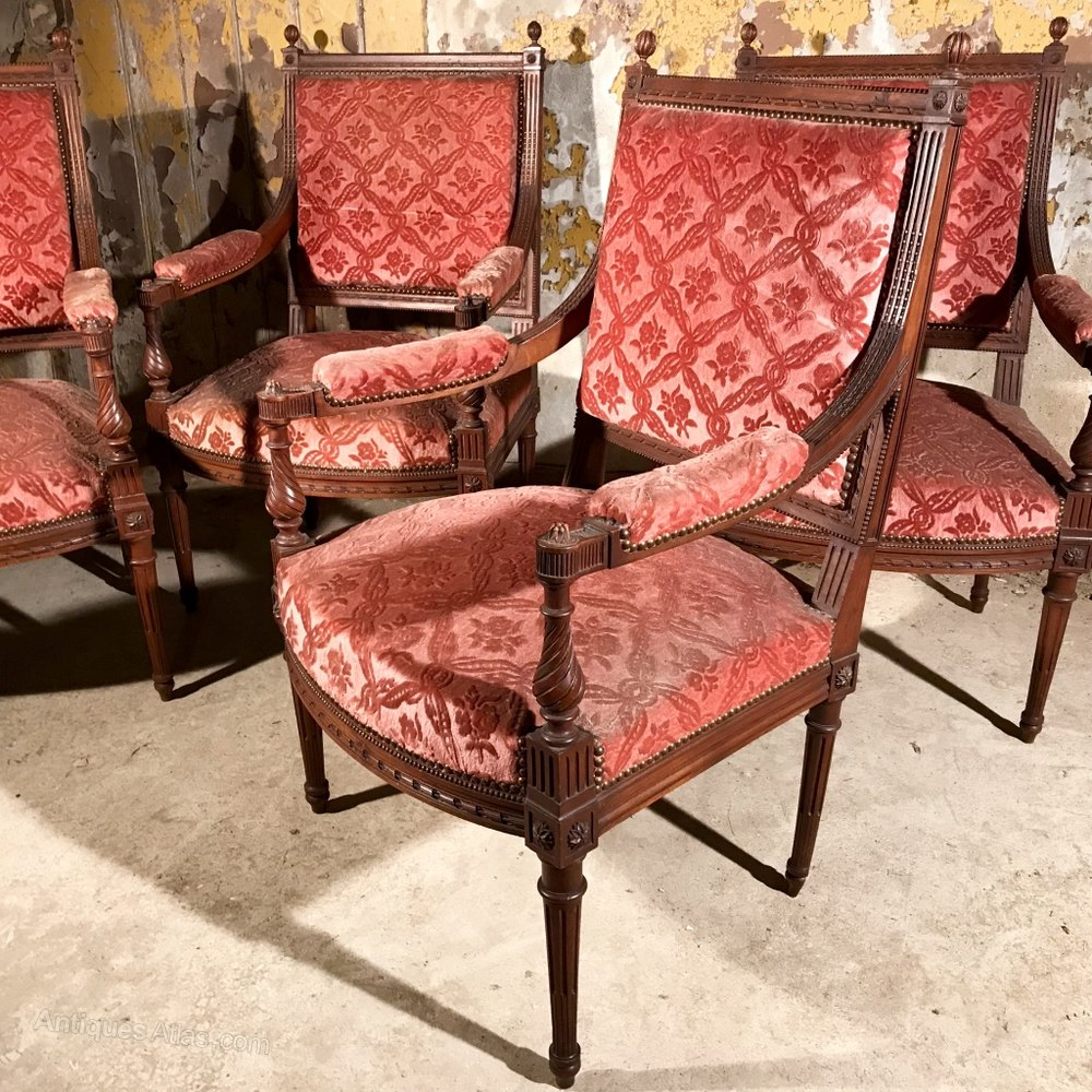 Rare Set Of Four French Armchairs Antiques Atlas