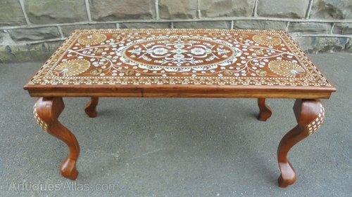 Magnificent Antique Anglo Indian Inlaid Coffee Table Antiques Atlas Inzonedesignstudio Interior Chair Design Inzonedesignstudiocom