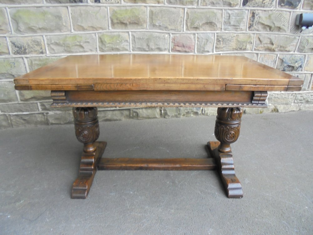 Admirable Antique Carved Oak 7 Ft Extending Dining Table Antiques Atlas Pabps2019 Chair Design Images Pabps2019Com