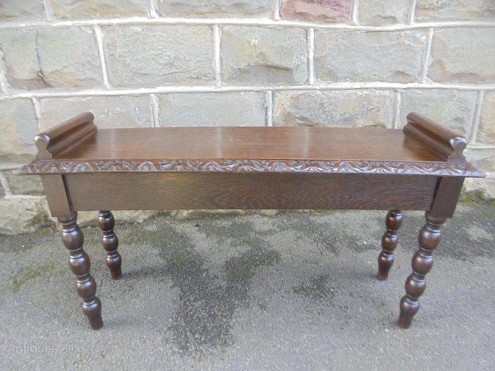 Awe Inspiring Antique Carved Oak Hall Seat Bench Lamtechconsult Wood Chair Design Ideas Lamtechconsultcom
