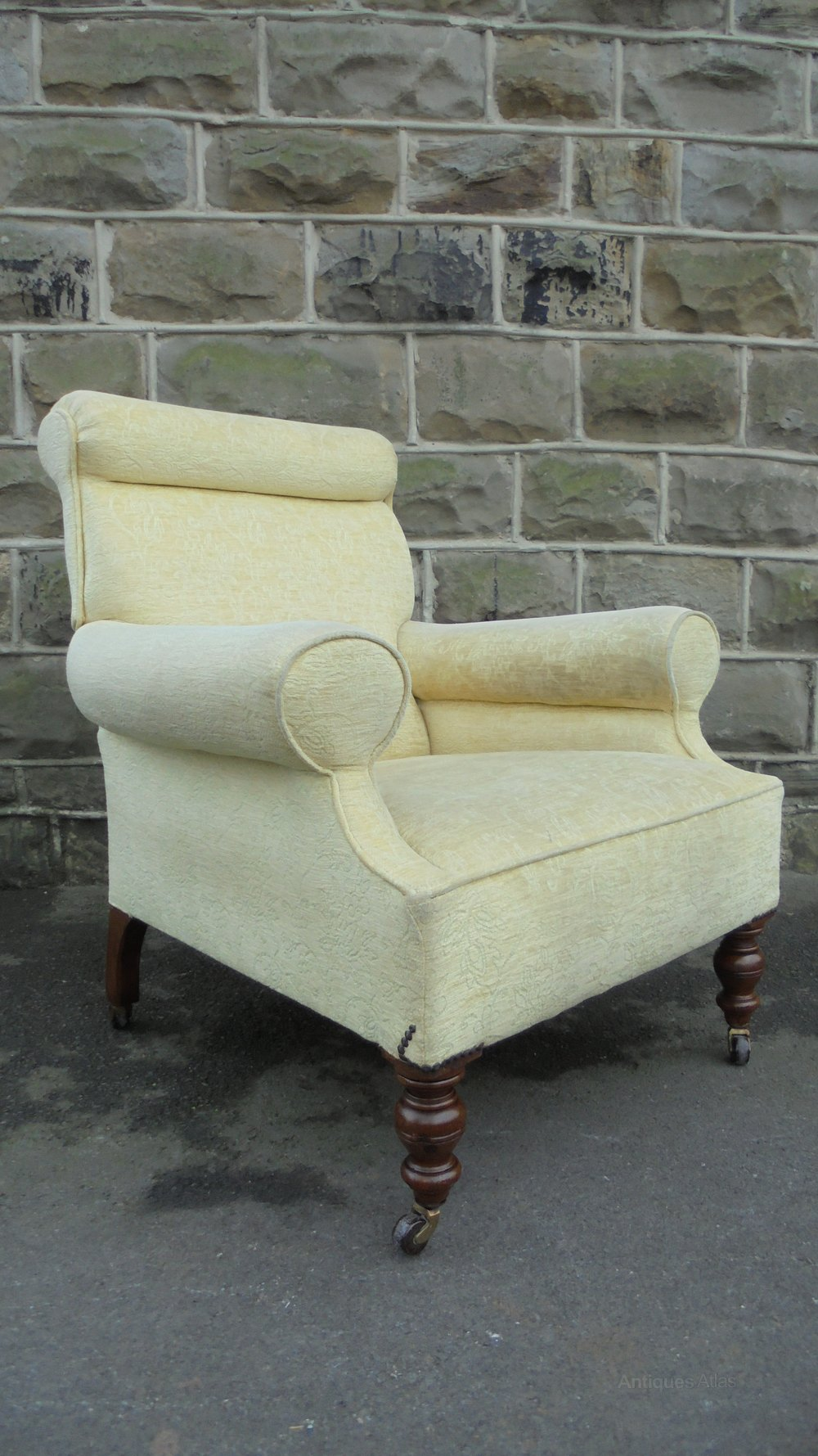 Antique English Upholstered Armchair Antiques Atlas