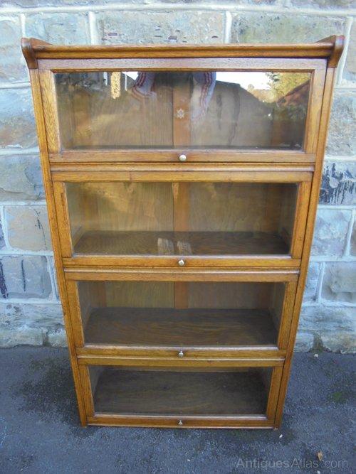 Antique Golden Oak Glazed Bookcase Antiques Atlas
