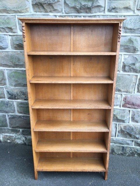 Antique Golden Oak Open Bookcase Antiques Atlas