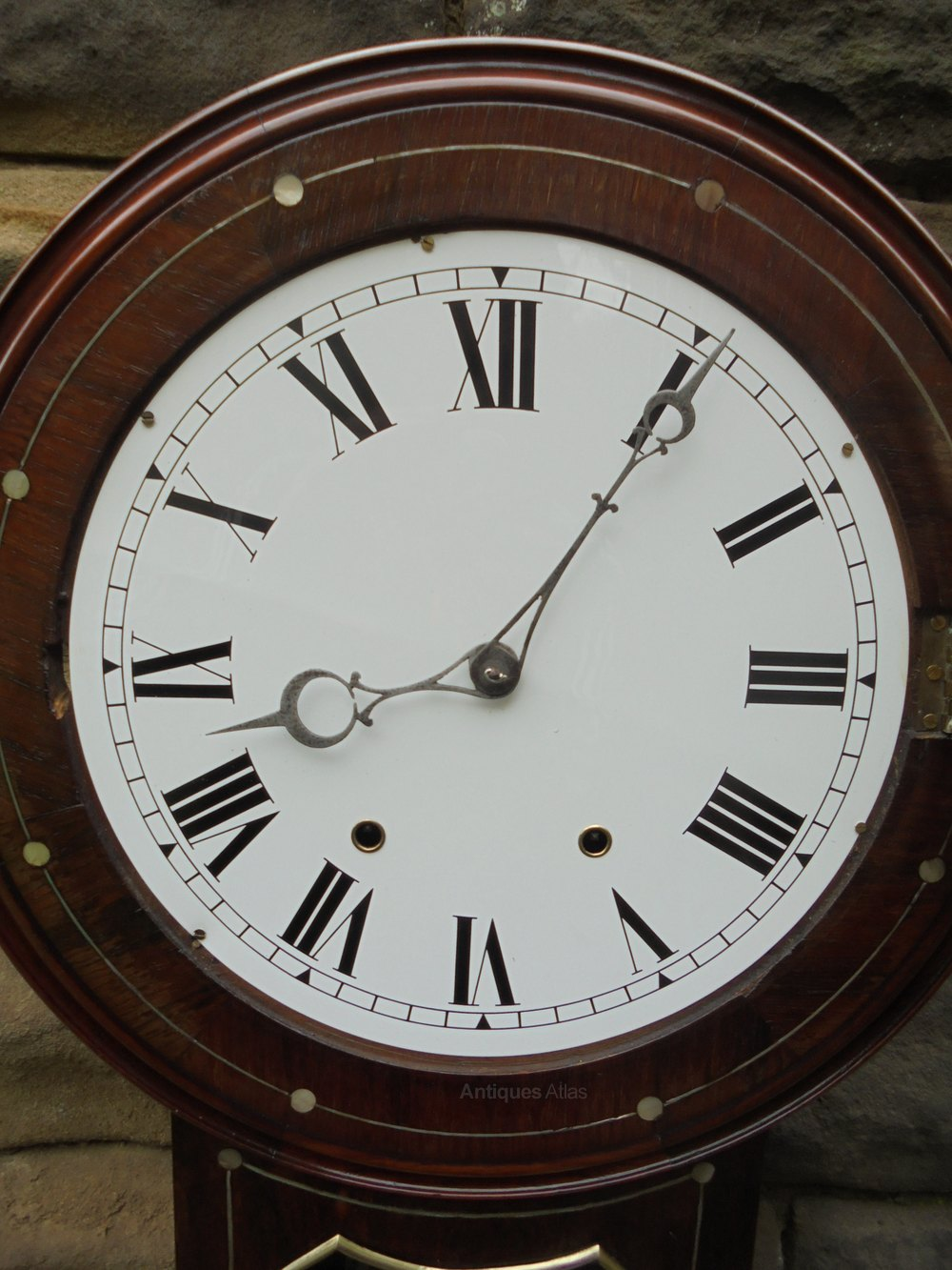 Antiques Atlas Antique Inlaid Rosewood Drop Dial Wall Clock