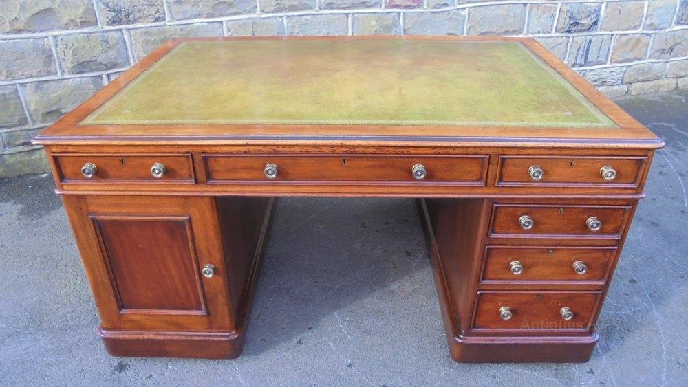 Antique Mahogany 12 Draw Partners Desk Antiques Atlas
