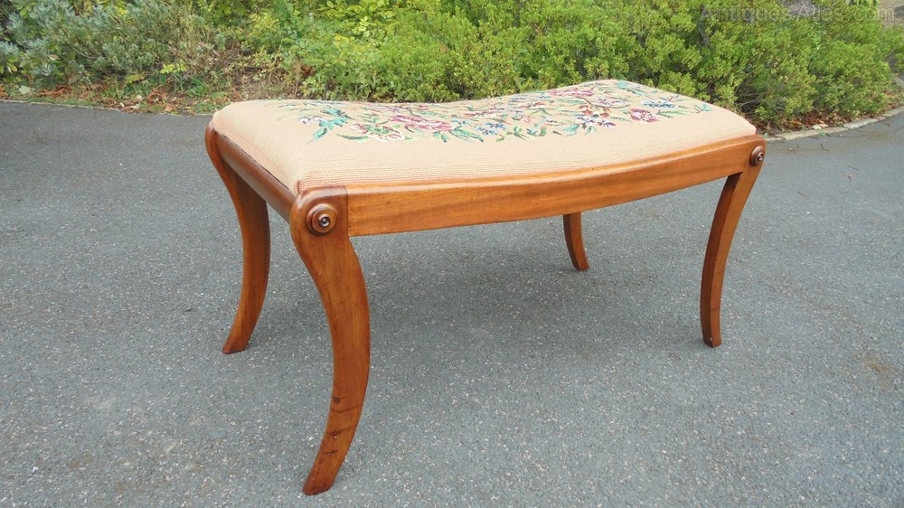 Antique Mahogany Stool Antique Furniture