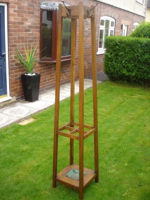 Antique Oak Hat & Coat Stand Hall Stand - Antiques Atlas