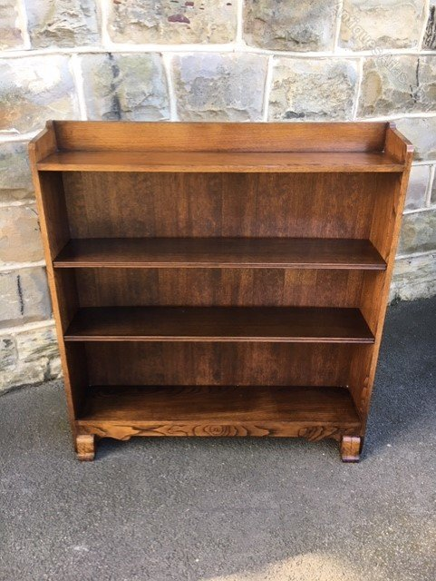 Groovy Antique Oak Open Bookcase Download Free Architecture Designs Scobabritishbridgeorg