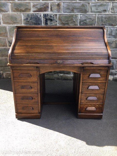 Pleasing Antique Oak Roll Top Desk Download Free Architecture Designs Scobabritishbridgeorg