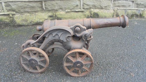 Antiques Atlas Antique Small Cast Iron Cannon