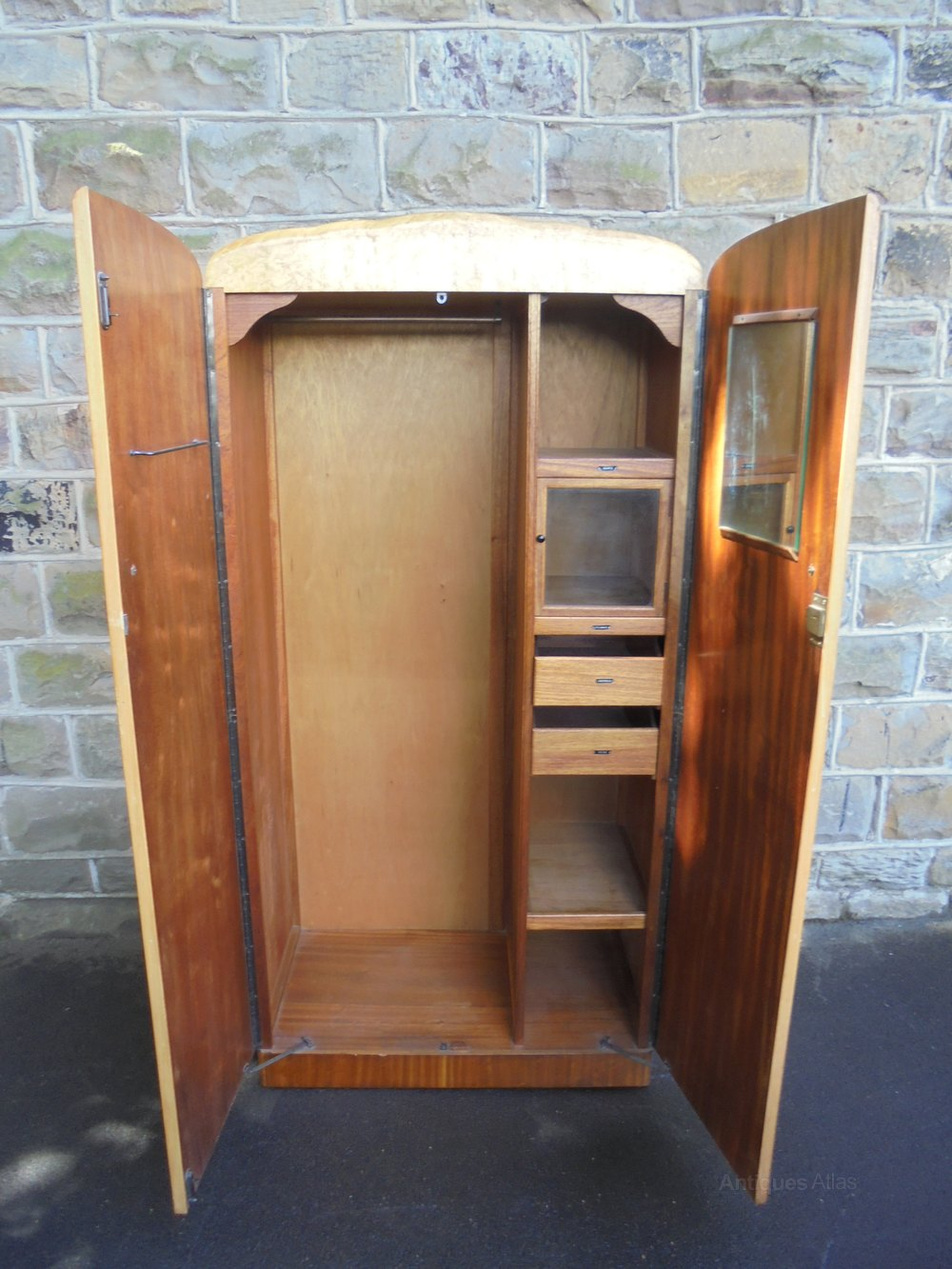 Antiques Atlas Art Deco Birds Eye Maple Wardrobe Compactum