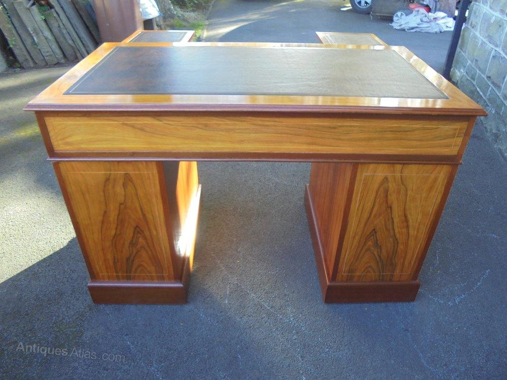 Quality Walnut Twin Pedestal Writing Desk Antiques Atlas