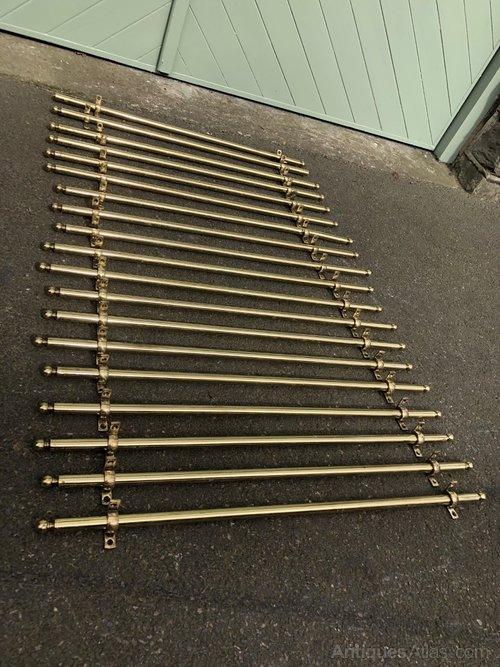 Set Antique Br Stair Rods
