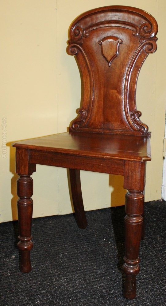 Antique Victorian Mahogany Hall Occasional Chair ...