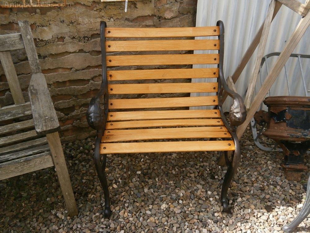 Cast Iron, Lions Head, Garden Seat Antique Garden Chairs ... - Antiques Atlas - Cast Iron, Lions Head, Garden Seat
