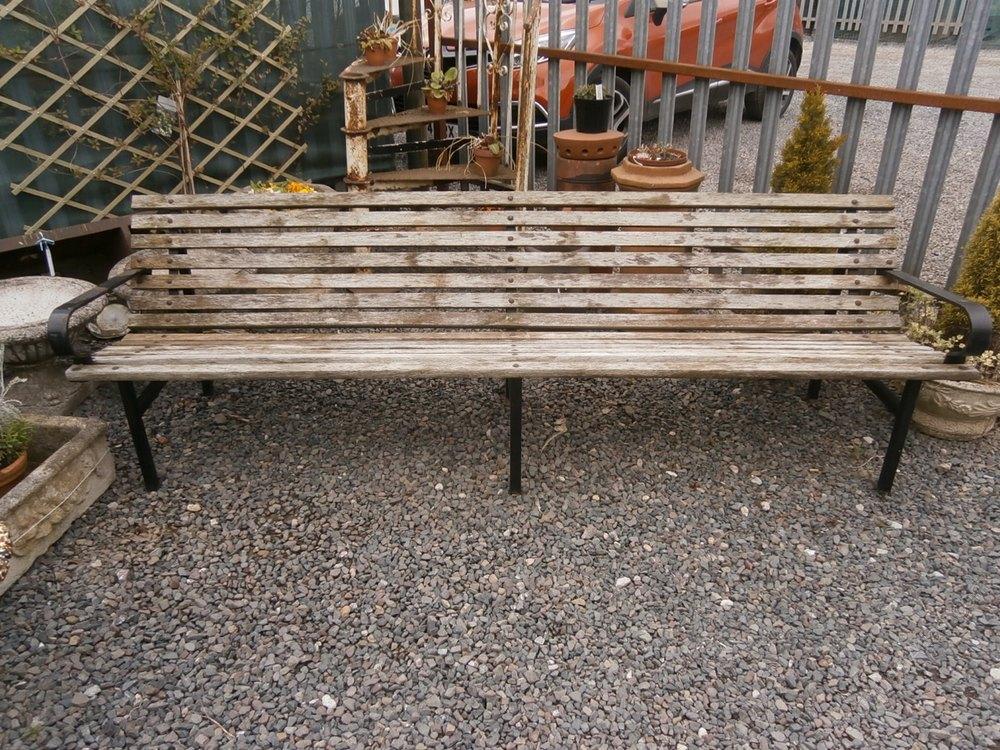 ... BenchMiles Griffiths Antiques Ltd Cast Iron Hardwood Garden Ben