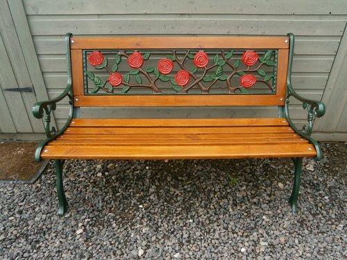 Cast Iron Wooden Garden Bench